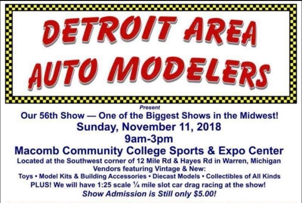 Detroit Area Auto Modelers 56th Show